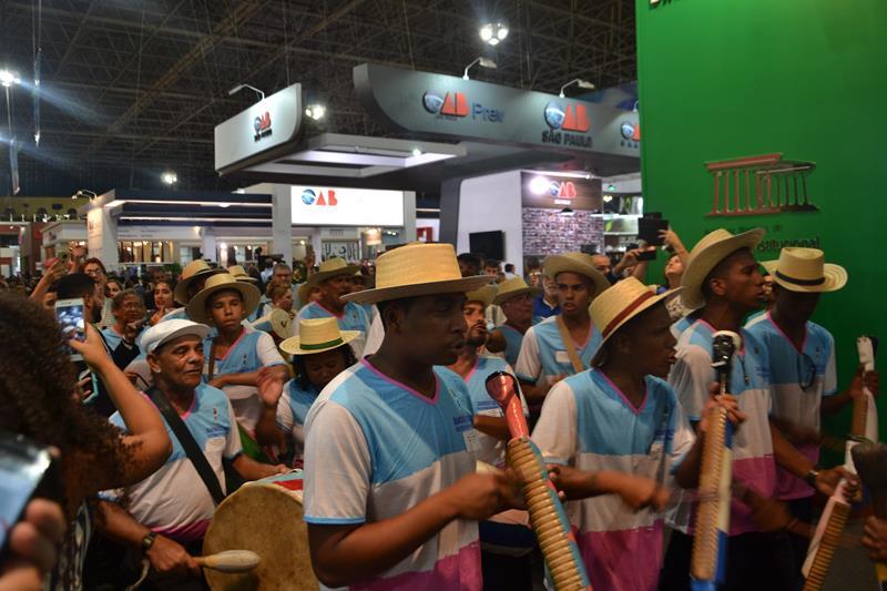 Bandas de Congo da Serra fizeram sucesso em Conferência. Foto: Divulgação.