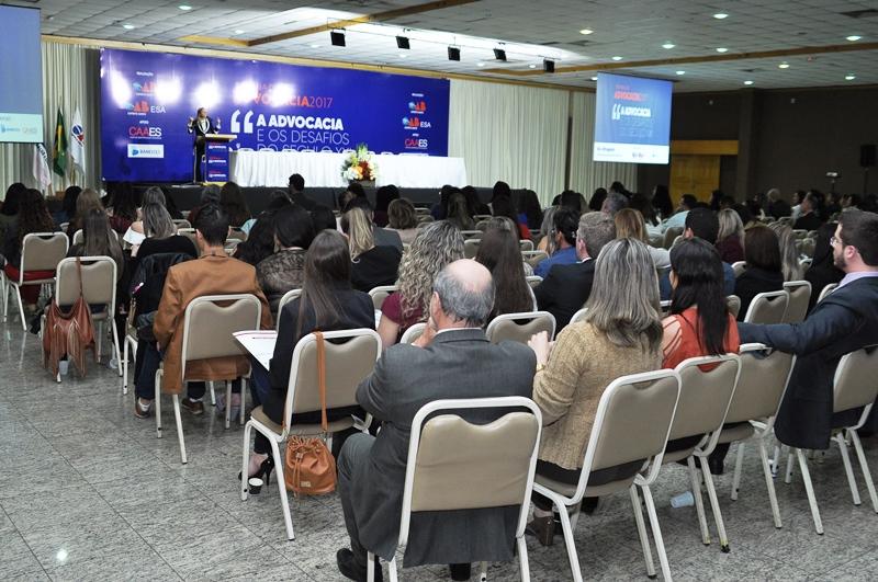 Advocacia lotou Centro de Convenções de Vitória. Foto: Divulgação.