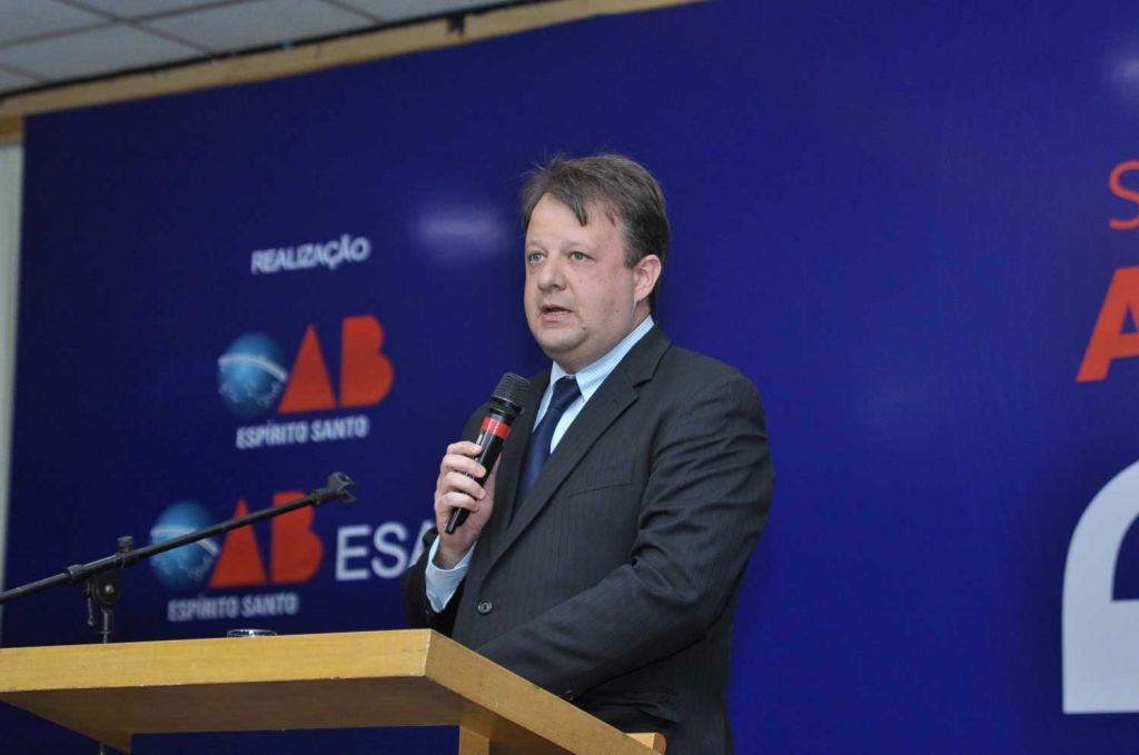 Flávio Tartuce fez a conferência de encerramento da Semana da Advocacia. Foto: Divulgação.