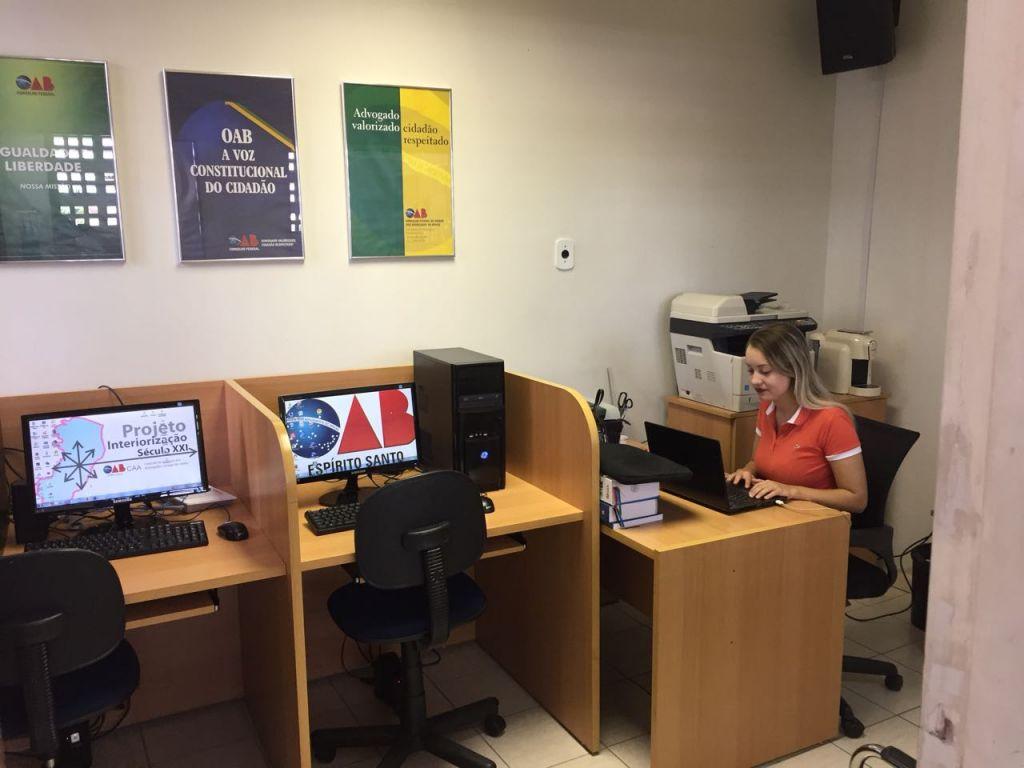 Sala de Apoio da Advocacia na Justiça do Trabalho de Linhares. Foto: Divulgação.