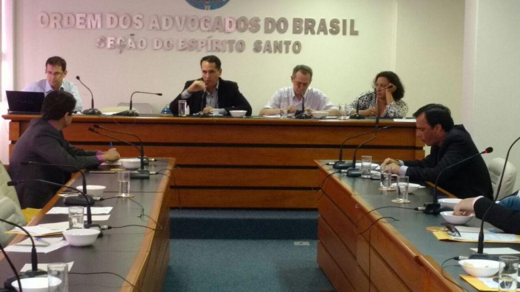 Corregedor da Ordem, Diogo Martins, participa da reunião. Foto: Divulgação.