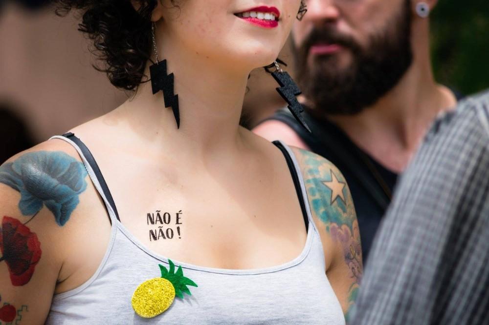Campanha ganhou o país com tatuagens temporárias